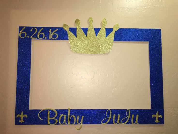 Photo Booth Frame to Take Pictures Royal Prince Baby Shower | eBay