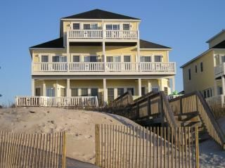 """North Topsail Beach Vacation Rental - VRBO 7067796ha - 5 BR Topsail Island Townhome in NC, """"Mary's Place"""" Oceanfront, 5 Bdrm, Elevator(16 Photos)"""