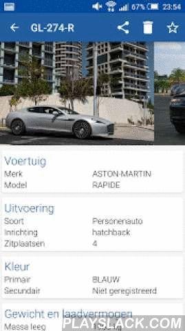 Kenteken Informatie  Android App - playslack.com ,  Dutch:Met de Kenteken Informatie app kunt u gegevens van kentekens opzoeken. In de zoekbalk kunt u het kenteken intypen (met of zonder streepjes) en vervolgens worden de kenteken gegevens opgehaald en getoond. Het kenteken, merk en model kunt u terug vinden in uw geschiedenis. U kunt voertuigen in uw geschiedenis ook toevoegen als favoriet, deze kunt u dan terug vinden in het favorieten tab-blad.Op basis van een kenteken worden onder andere…