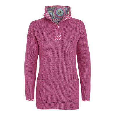 Bella Longer Length Macaroni 1/4 Button Neck Sweatshirt