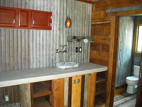 I Love The Reclaimed Tin Walls For The Bottom Of My