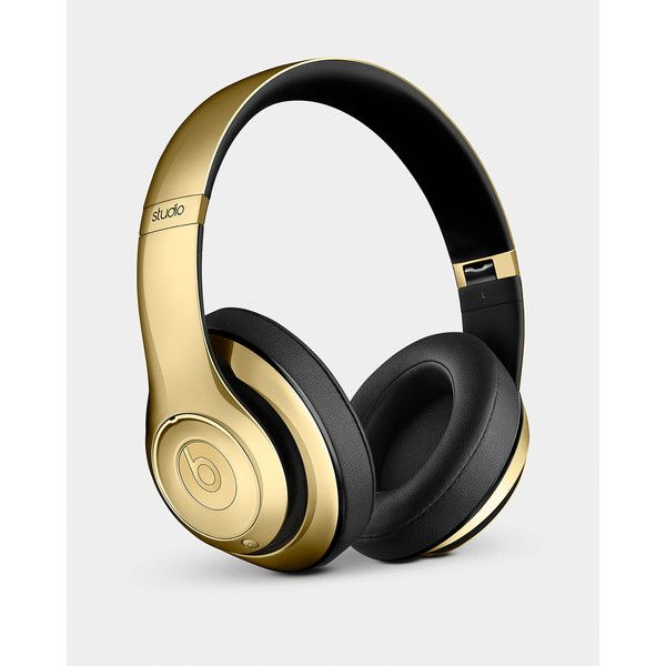 Beats By Dr. Dre Golden Beats On-Ear Headphones & Pill Speaker ($700) ❤ liked on Polyvore featuring home, home decor and beats by dr. dre