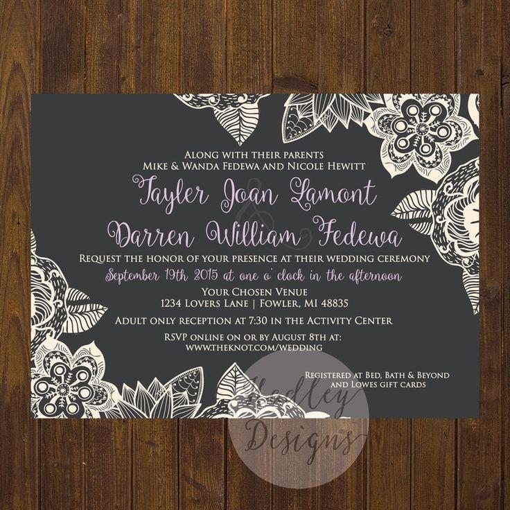 Rustic Wedding Invitations, Country Wedding Invitations, Western Wedding  Invitations, Country Rustic Wedding Invitations