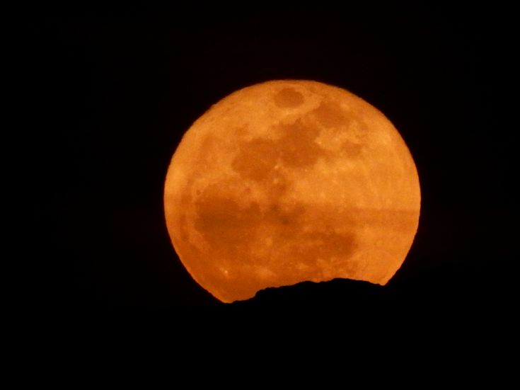 Pumpkin Moon Over the Hindu Kush - EPOD - a service of USRA