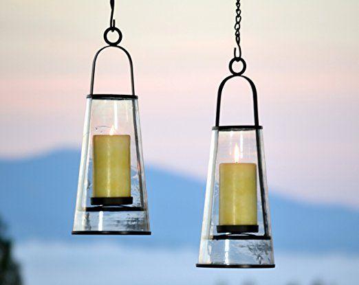 Amazon.com: H Potter Hanging Patio Deck Candle Holder Lantern: Home & Kitchen