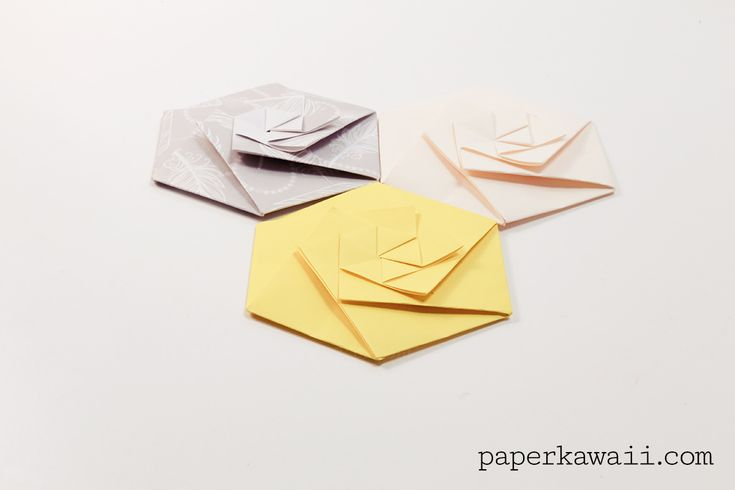 Learn how to fold a sophisticated origami hexagonal envelope, watch the video tutorial or download the free PDF crease pattern, great for Christmas party invites, or weddings etc..