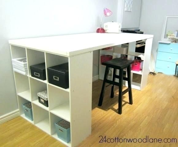 Diy Craft Work Table Desks With Storage Crafting Desk Room Cube