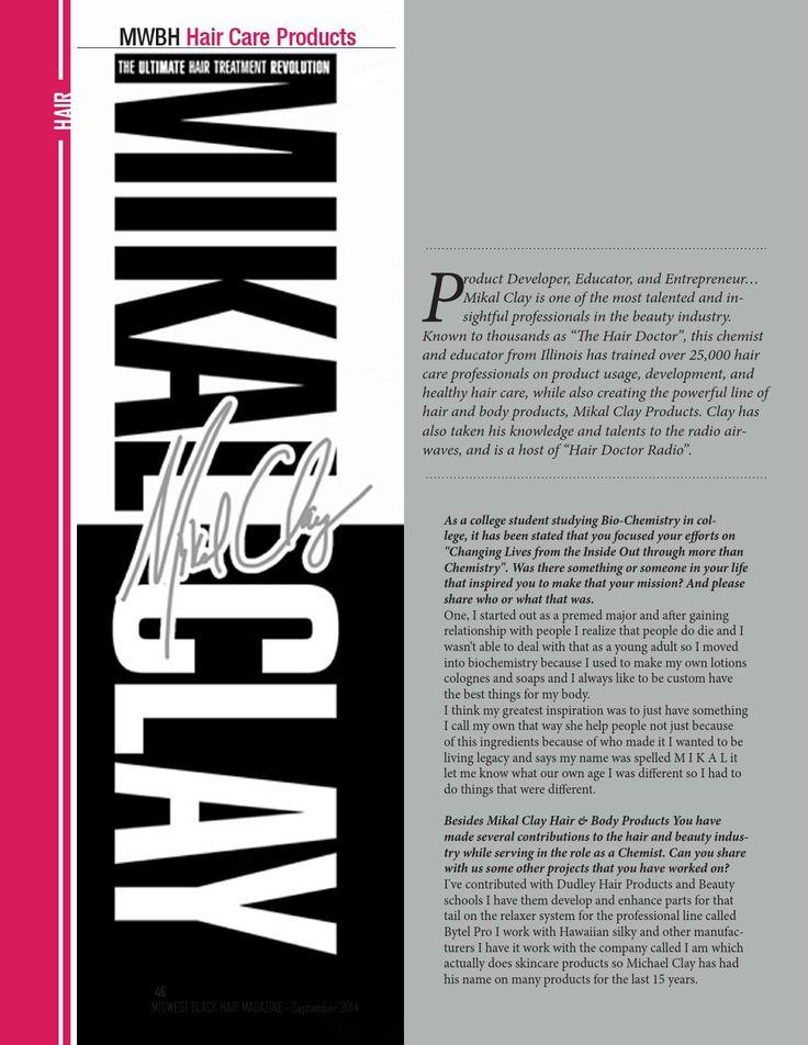 Sept 2014- Midwest Black Hair Magazine  Sept 2014- Midwest Black Hair Magazine Featuring Latavia Roberson, Isis Brantley, Mikal Clay, Lonnie Bush, Egypt Buck, the Short Cut Lookbook & More!