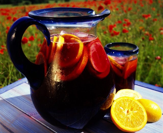 This Sangria recipe is perfect for big summer parties and holiday festivities - brimming with fresh fruit, red wine and an optional shot or two of gin. This Sangria is always a favorite, a you may consider doubling the recipe.