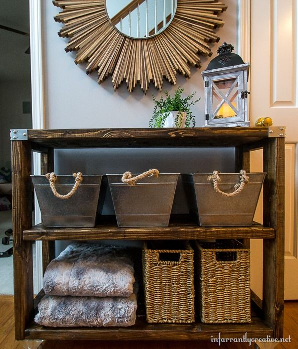 Industrial Hallway Cart this bog has some great ideas. So going to try!