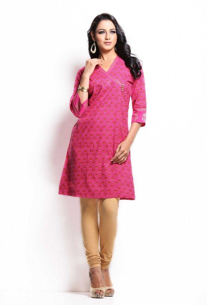 A pink coloured kurta