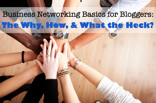Good tips for blogger networking & I love how the point of the post is captured in the image (great for pinning!)