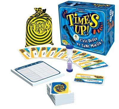 Time's up ! Dans Time's Up! l'objectif est de faire découvrir à votre partenaire des personnages célèbres. Une partie se déroule en 3 manches. Quiproquos, amusements et fous rires sont au rendez-vous !