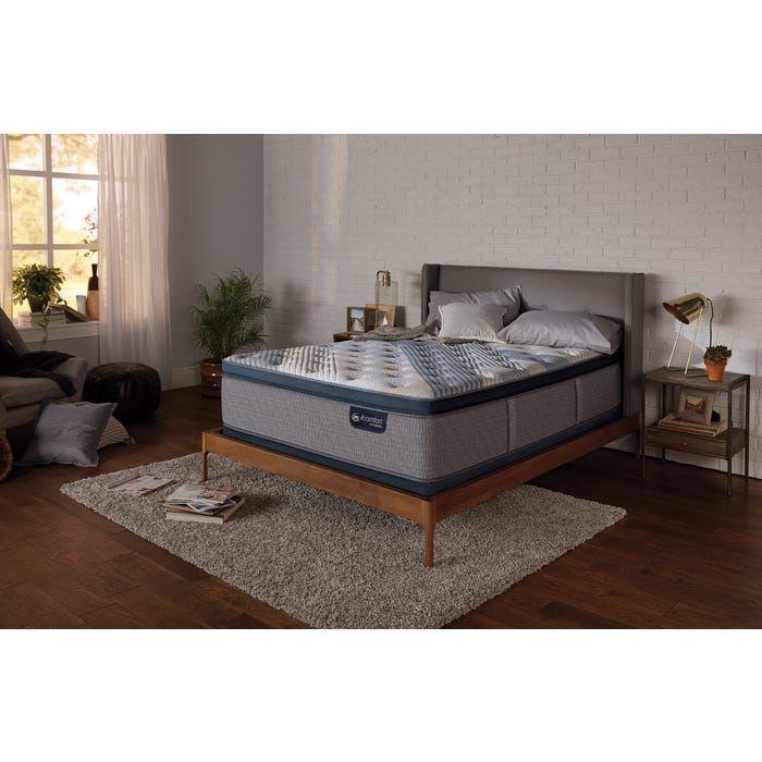 Queen Serta Icomfort Hybrid Blue Fusion 4000 Plush Pillow Top Mattress Plush Pillows California King Pillow Top
