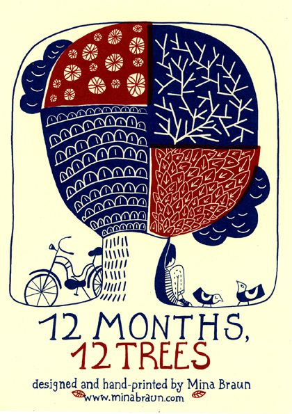 "Mina Braun: ""12 months, 12 trees""."