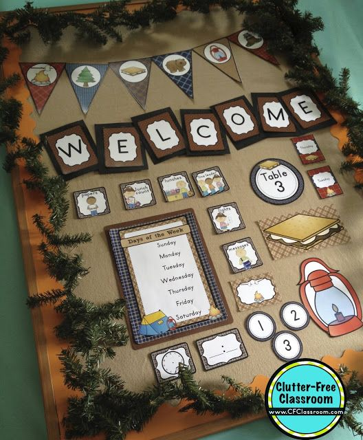 Printable Fall Classroom Decorations ~ Best camping bulletin boards ideas on pinterest