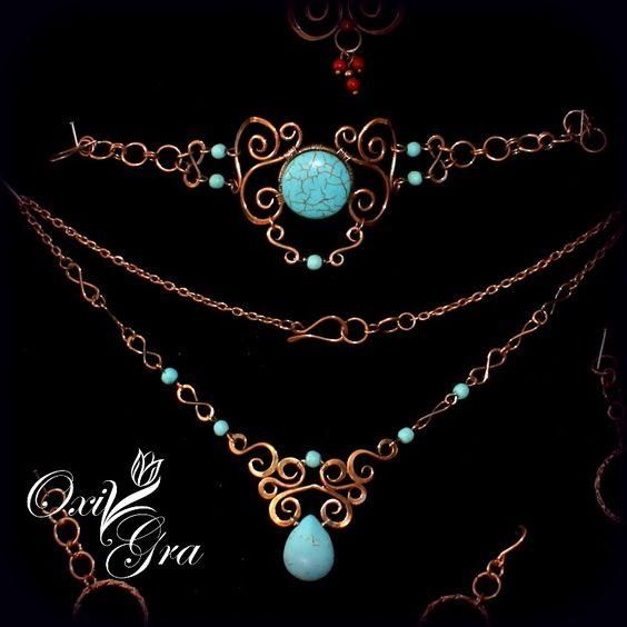 Wire wrapped and beads necklace. Craft ideas from LC.Pandahall.com