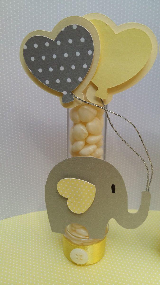 Tubete elefantinho todo confeccionado em scrapbook, com aplicações 3d que deixam a decoração mais delicada e harmoniosa.  não acompanha balinhas  Fazemos decoração completa, consulte!!!!