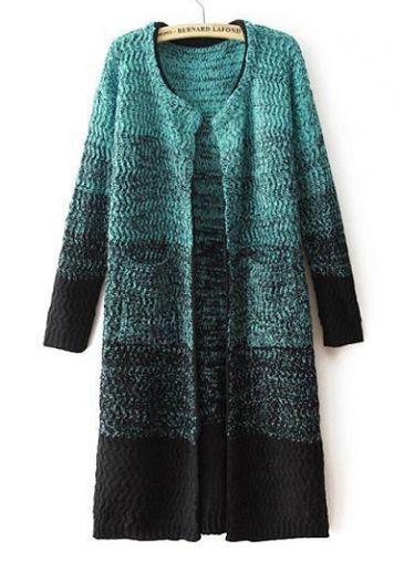 Fabulous Long Sleeve Knitting Wool Cardigans with Pocket