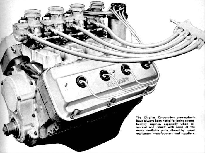 1957 Early First Generation Hemi Engine Chrysler Hemi Production