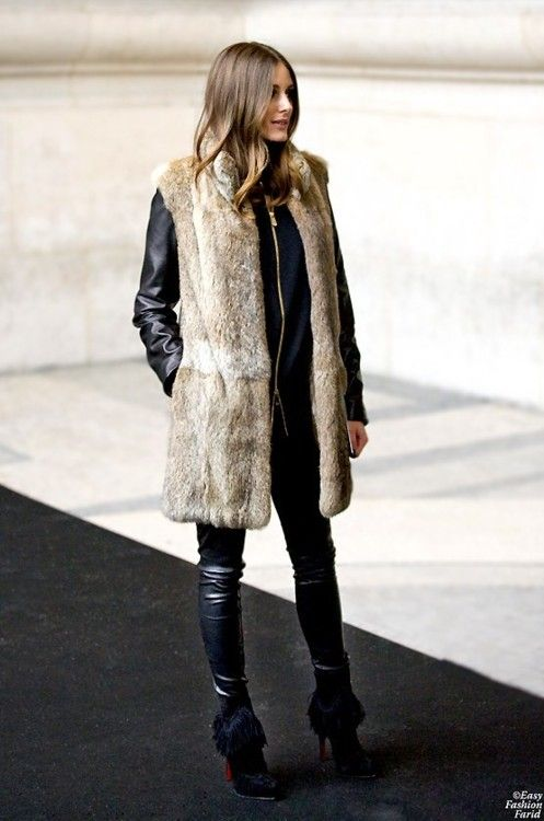 A Fur Gilet or Coat is a stylish and sexy glamourous accessory that will turn heads and keep you cosy. They can look amazing in the evening worn over a silk blouse and with skinny leather trousers and heals.