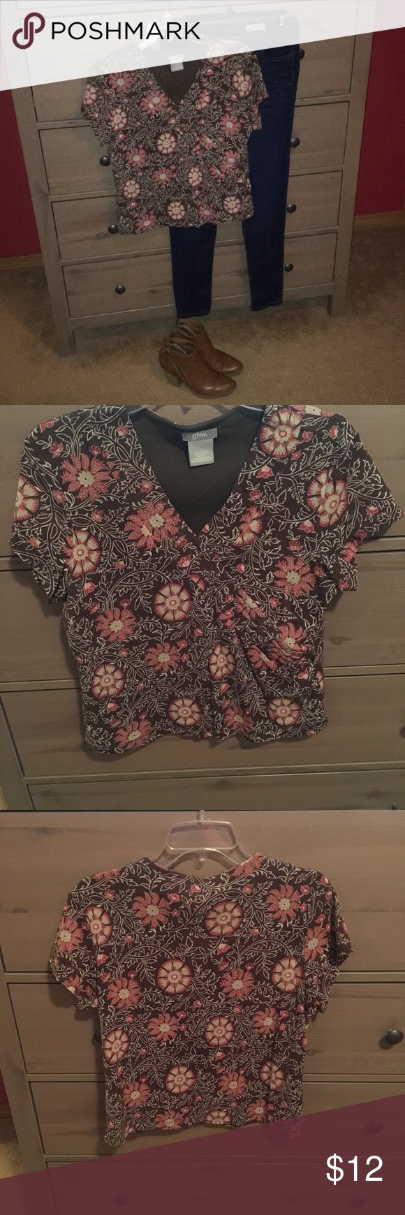 GNW Brand Top GNW Brand Top. Hardly worn and in great condition. 100% Nylon. Pair with skinny jeans and boots (not included). Bundle with other items and save 10%. GNW Tops Blouses