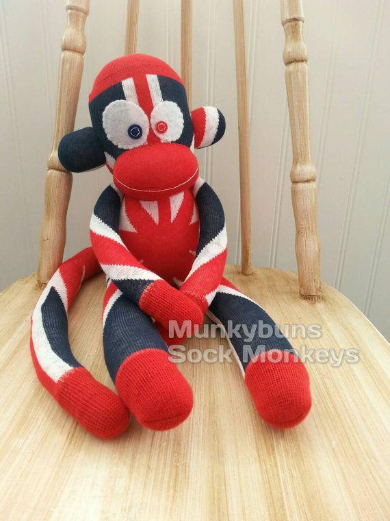 Union Jack Sock Monkey