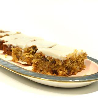 Fruity Carrot Cake Tray Bake Slices   Doves Farm