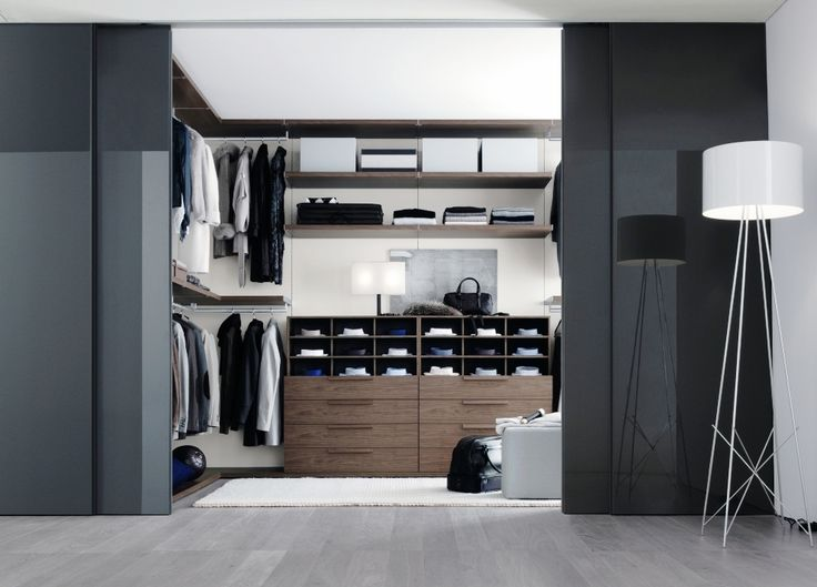 Men's walk in wardrobe