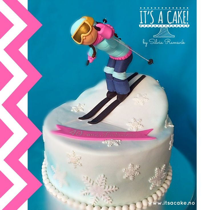 Downhill cake, ski