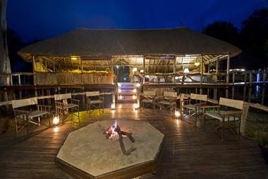Chitabe Camp at night