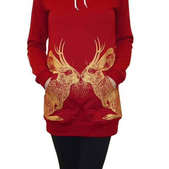 Kissing Jackalopes Hoodie Dress by NYhop on Etsy