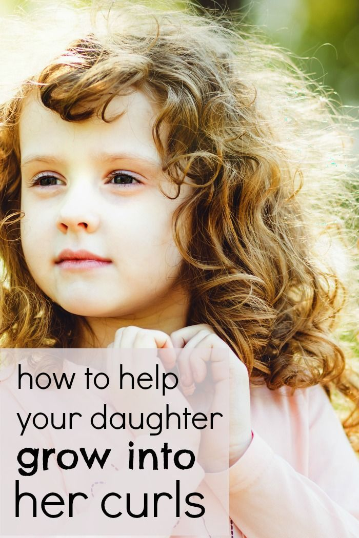 "How to help your daughter ""grow into"" her curls and love her curly hair. Plus some tips and tricks to make managing curly hair a lot easier. If your girl has curly hair you aren't sure how to style, this will help."