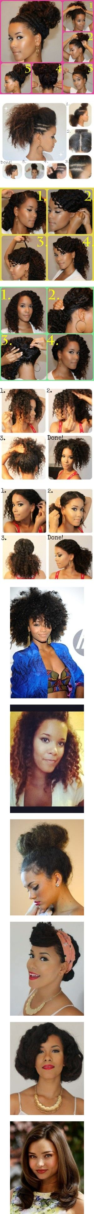 best natural black hairstyles images on pinterest hairstyle