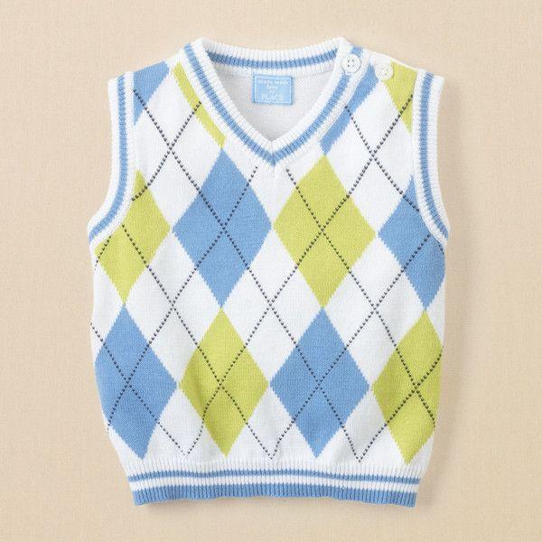 newborn boys argyle sweater vest found on Polyvore