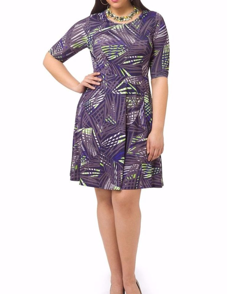 Triste Neon Jungle Fit And Flare Dress Size 1X #Triste #FitAndFlare #Casual