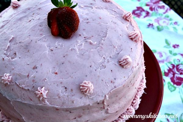 """Mommy's Kitchen - Old Fashioned & Southern Style Cooking: Southern Strawberry Cake """"Happy 13th Birthday Mackenzie"""" & {My Promise to My Sweet Girl}"""