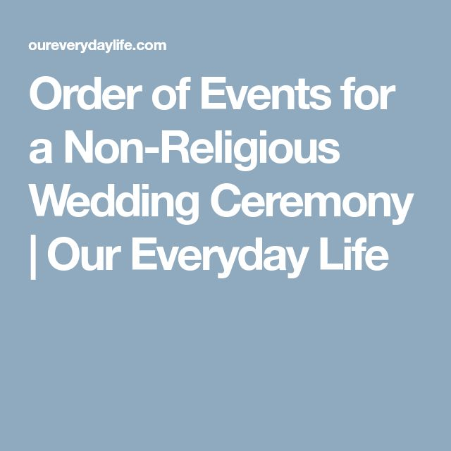 The 25 Best Non Religious Wedding Ceremony Ideas On Pinterest