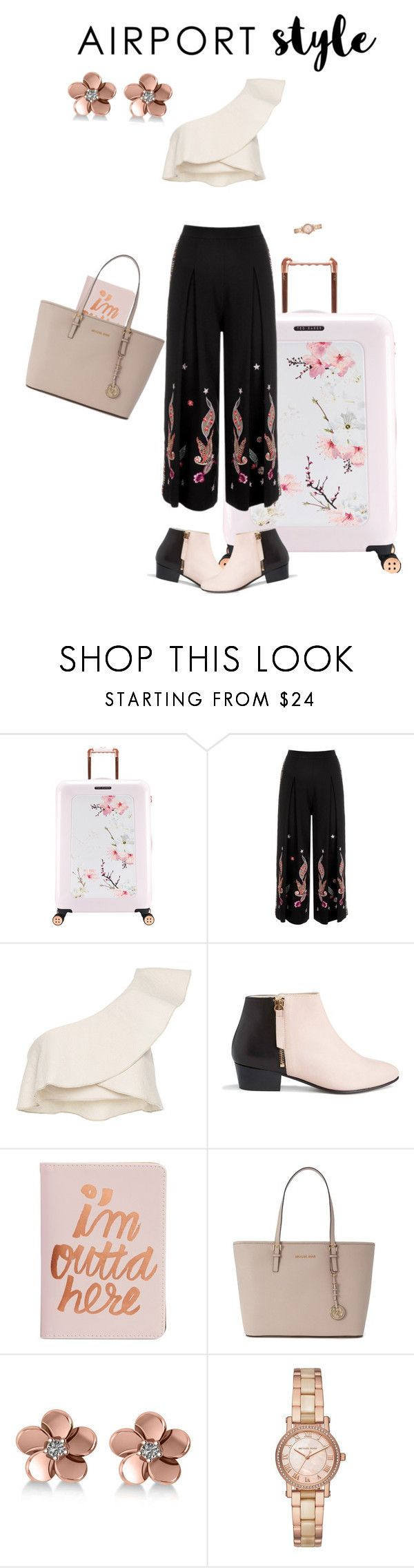 """""""Untitled #158"""" by jacksonwang852g7 ❤ liked on Polyvore featuring Ted Baker, Temperley London, Isabel Marant, Nine to Five, ban.do, Michael Kors and Allurez"""