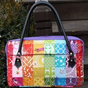 Blend the beauty of quilting and the convenience of making your own bag with The Conversation Bag. This colorful and cute free purse pattern would make a great purse to take on the road.