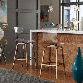 Shop for iNSPIRE Q Miles Clear Acrylic Swivel Bar Stools (Set of 2). Get free shipping at Overstock.com - Your Online Furniture Outlet Store! Get 5% in rewards with Club O! - 19700514