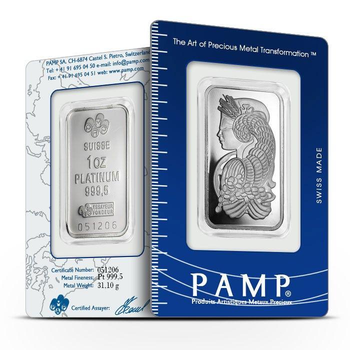 1 Oz 9995 Platinum Bar 920 Platinum Bar Precious Metals