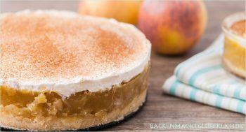 Apfel-Sahne-Torte mit Pudding