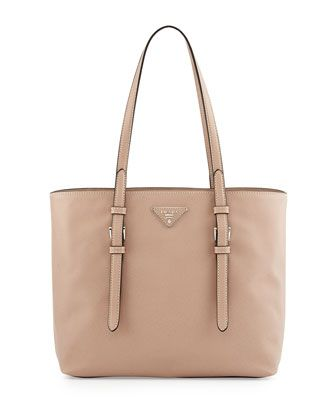 Prada Saffiano Soft Tote Bag, Tan (Cammeo)