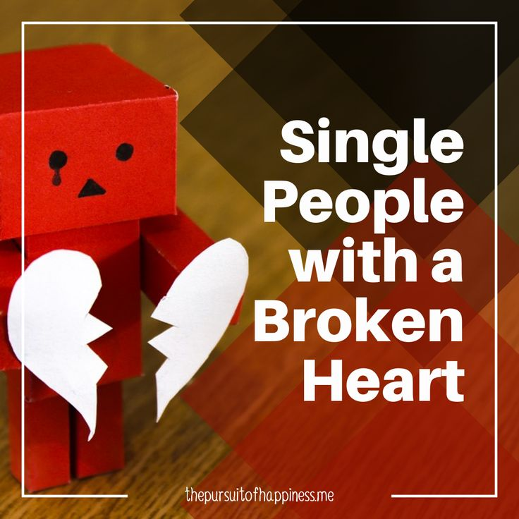 SINGLE PEOPLE WITH A BROKEN HEART   A song by Andy Abraham, called Broken-Hearted, ran over and over in my head this morning. I don't know if you have you heard it but it starts out speaking about a land of broken dreams, and that happiness is just an illusion filled with sadness a...