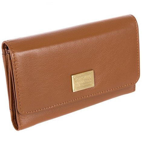 Portobello W11 Brown 'Leyla' RFID 8-card leather purse | Debenhams