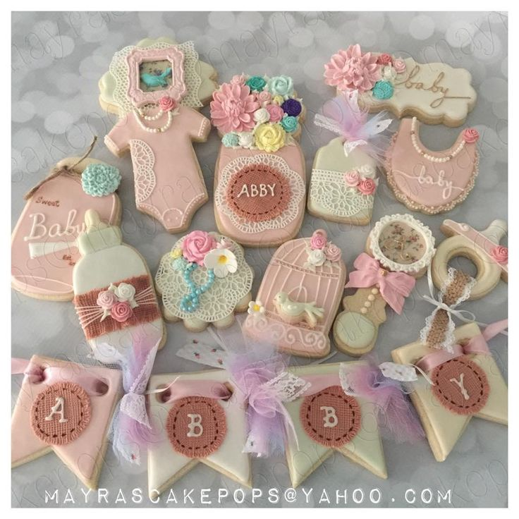 Shabby Chic Baby Shower   Cookie Connection