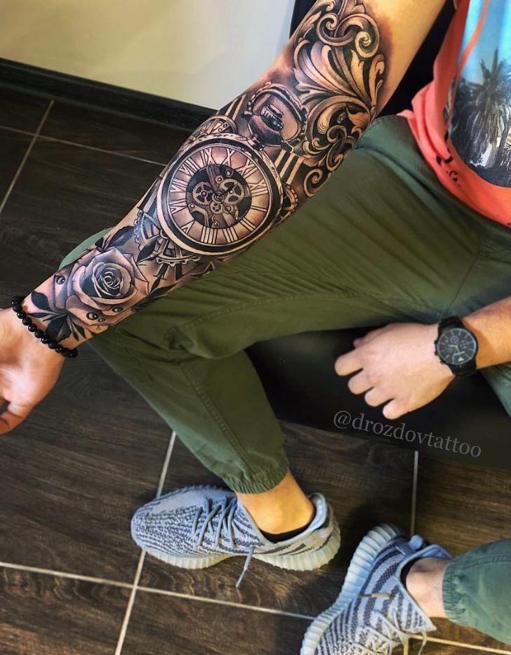 Awesome Half Sleeve Tattoo Inkstylemag Half Sleeve Tattoo Sleeve Tattoos Half Sleeve Tattoos Designs