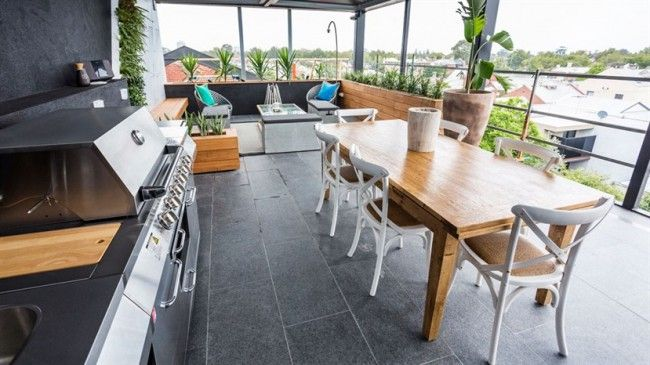 Outdoor spaces The Block 2014
