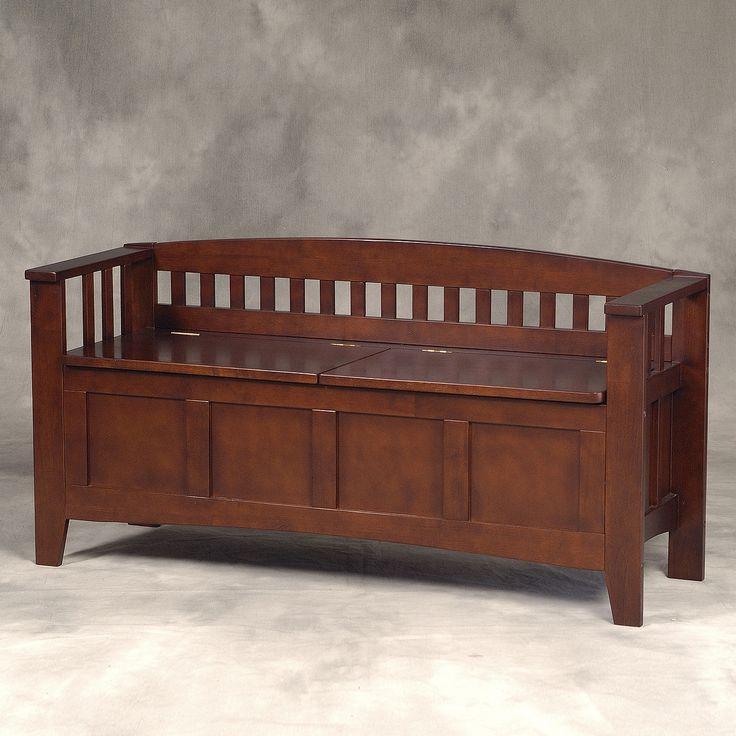 Linon Home Decor 85001WALZ-01-KD-U Split Seat Storage Bench $160
